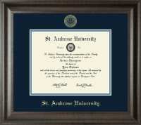 Saint Ambrose University Diploma Frame - Gold Embossed Diploma Frame in Acadia