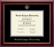 Grand Canyon University Diploma Frame - Gold Embossed Diploma Frame in Gallery