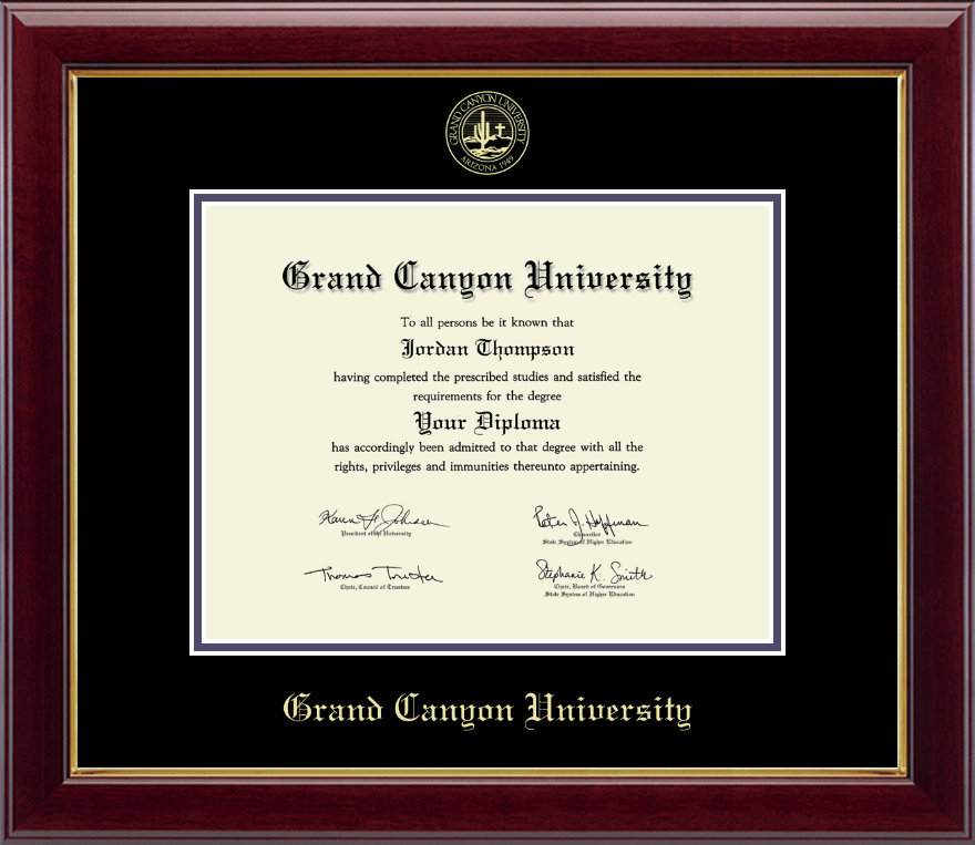grand canyon university gold embossed diploma frame in gallery item 202832. Black Bedroom Furniture Sets. Home Design Ideas