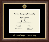 Grand Canyon University Diploma Frame - Gold Engraved Medallion Diploma Frame in Hampshire