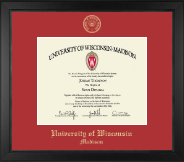 University of Wisconsin Madison Diploma Frame - Gold Embossed Diploma Frame in Arena