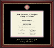 State University of New York Cortland Diploma Frame - Masterpiece Medallion Diploma Frame in Kensington Gold