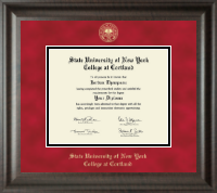 State University of New York Cortland Diploma Frame - Gold Embossed Diploma Frame in Acadia