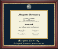 Marquette University Diploma Frame - Masterpiece Medallion Diploma Frame in Kensington Gold