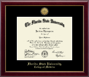 Florida State University Diploma Frame - Gold Engraved Medallion Diploma Frame in Gallery