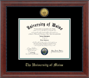 The University of Maine Orono Diploma Frame - Gold Engraved Diploma Frame in Signature
