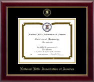 National Rifle Association of America Certificate Frame - Gold Embossed Certificate Frame in Gallery