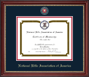 National Rifle Association of America Certificate Frame - Masterpiece Medallion Certificate Frame in Kensington Gold