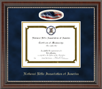 National Rifle Association of America Certificate Frame - Cameo Edition Certificate Frame in Chateau