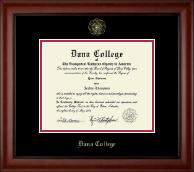 Dana College Diploma Frame - Gold Embossed Diploma Frame in Cambridge