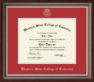 Western State College of Colorado Diploma Frame - Silver Embossed Diploma Frame in Devonshire