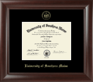 University of Southern Maine Diploma Frame - Gold Embossed Diploma Frame in Rainier