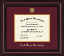 Lock Haven University Diploma Frame - Presidential Gold Engraved Diploma Frame in Premier