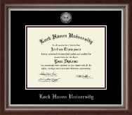 Lock Haven University Diploma Frame - Silver Engraved Diploma Frame in Devonshire