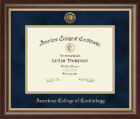 American College of Cardiology Certificate Frame - Gold Engraved Certificate Frame in Hampshire