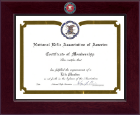 National Rifle Association of America Certificate Frame - Century Masterpiece Certificate Frame in Cordova