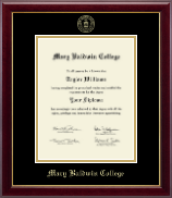 Mary Baldwin College Diploma Frame - Gold Embossed Diploma Frame in Gallery