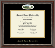 Sacred Heart University Diploma Frame - Campus Cameo Diploma Frame in Chateau