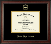 Bethel High School in Connecticut Diploma Frame - Gold Embossed Diploma Frame in Studio