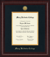 Mary Baldwin College Diploma Frame - Presidential Gold Engraved Diploma Frame in Premier