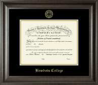 Bowdoin College Diploma Frame - Gold Embossed Diploma Frame in Acadia