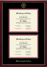 Muskingum College Diploma Frame - Double Diploma Frame in Galleria