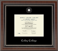 Colby College Diploma Frame - Silver Embossed Diploma Frame in Chateau