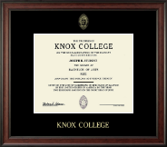Knox College Diploma Frame - Gold Embossed Diploma Frame in Studio