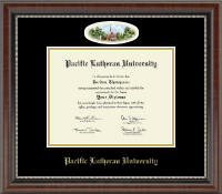Pacific Lutheran University Diploma Frame - Campus Cameo Diploma Frame in Chateau
