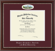 Virginia Tech Diploma Frame - Campus Cameo Diploma Frame in Chateau