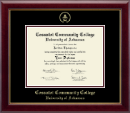 Cossatot Community College University of Arkansas Diploma Frame - Gold Embossed Diploma Frame in Gallery