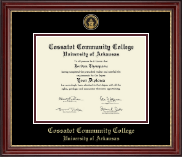 Cossatot Community College University of Arkansas Diploma Frame - Gold Engraved Medallion Diploma Frame in Kensington Gold