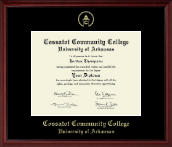 Cossatot Community College University of Arkansas Diploma Frame - Gold Embossed Diploma Frame in Camby