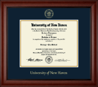 University of New Haven Diploma Frame - Gold Embossed Diploma Frame in Cambridge