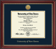 University of New Haven Diploma Frame - Gold Engraved Diploma Frame in Kensington Gold