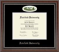 Fairfield University Diploma Frame - Campus Cameo Diploma Frame in Chateau