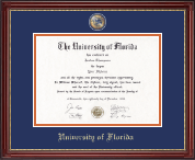 University of Florida Diploma Frame - Masterpiece Medallion Diploma Frame in Kensington Gold