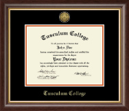 Tusculum College Diploma Frame - Gold Engraved Diploma Frame in Hampshire