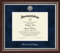 Harrison College Diploma Frame - Silver Engraved Diploma Frame in Devonshire