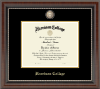 Harrison College Diploma Frame - Masterpiece Medallion Diploma Frame in Chateau