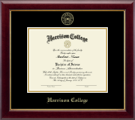 Harrison College Diploma Frame - Gold Embossed Diploma Frame in Gallery