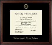 University of North Dakota Diploma Frame - Gold Embossed Diploma Frame in Studio
