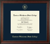 Eastern Oklahoma State College Diploma Frame - Gold Embossed Diploma Frame in Studio