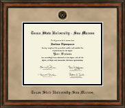 Texas State University San Marcos Diploma Frame - Heirloom Edition Diploma Frame in Ashford