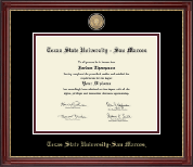 Texas State University San Marcos Diploma Frame - Masterpiece Medallion Diploma Frame in Kensington Gold