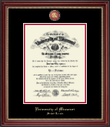 University of Missouri Saint Louis Diploma Frame - Masterpiece Medallion Diploma Frame in Kensington Gold