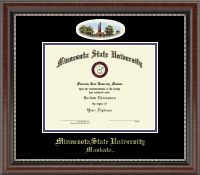 Minnesota State University, Mankato Diploma Frame - Campus Cameo Diploma Frame in Chateau