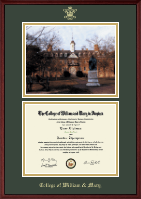 William & Mary Diploma Frame - Campus Scene Diploma Frame in Camby