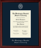 The Washington Hospital School of Nursing Diploma Frame - Silver Embossed Diploma Frame in Camby