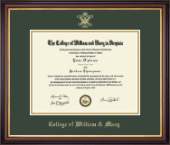William & Mary Diploma Frame - Gold Embossed Diploma Frame in Regency Gold